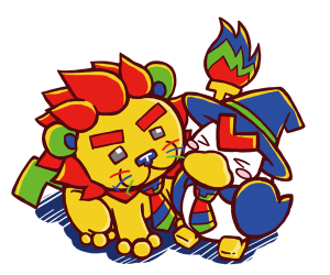2015年賀状アティルとイマジオン